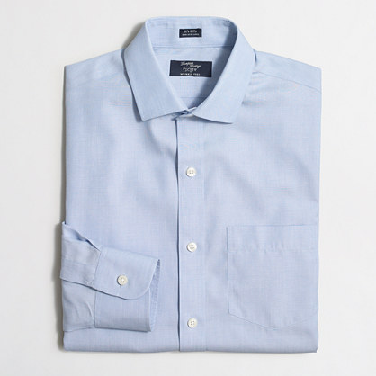 Tall wrinkle-free Voyager dress shirt in end-on-end cotton