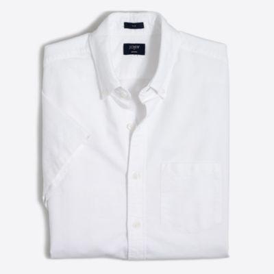Slim short-sleeve oxford shirt