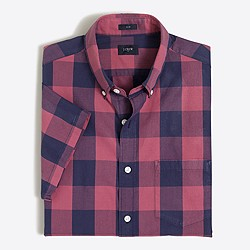 Slim short-sleeve Slim washed shirt