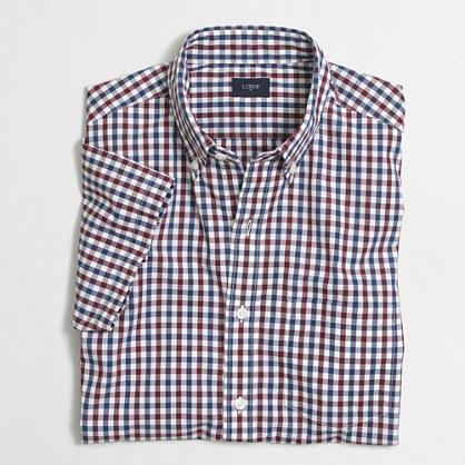 Slim short-sleeve Slim washed shirt