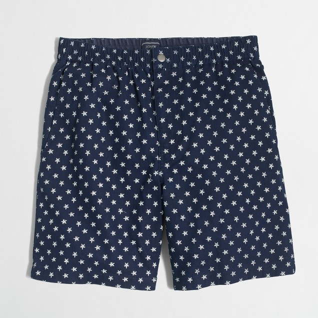 "7"" linen-cotton Tripper short"