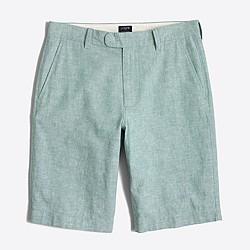 """11"""" linen-cotton Rivington short"""