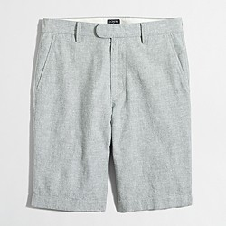 "11"" linen-cotton Rivington short"