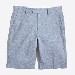 """Factory 11"""" linen-cotton Rivington short"""