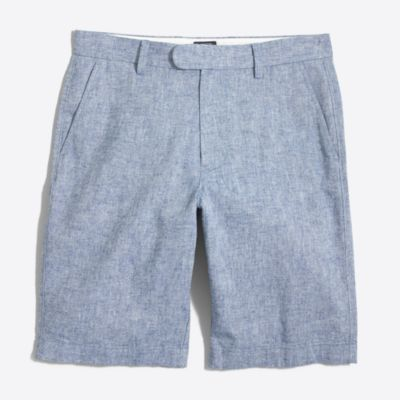 "11"" linen-cotton Rivington short factorymen shorts c"