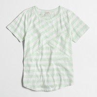 Cross-striped T-shirt