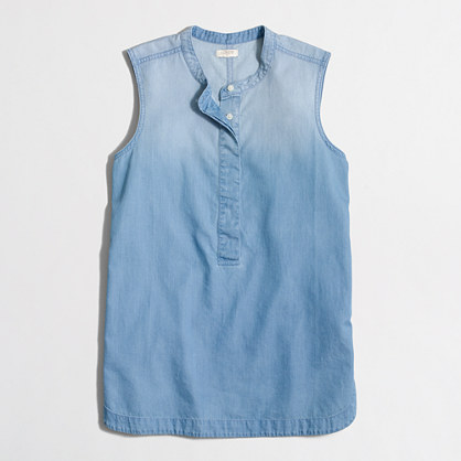 Drapey chambray popover shirt