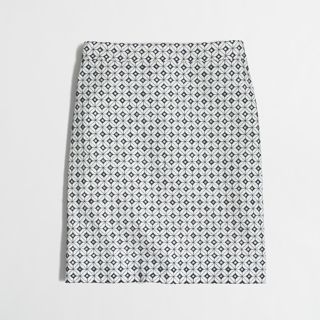 Geometric eyelet mini skirt