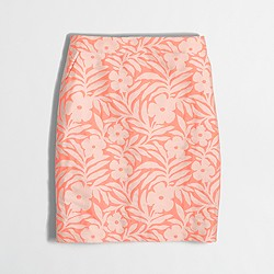 Factory neon floral jacquard mini skirt