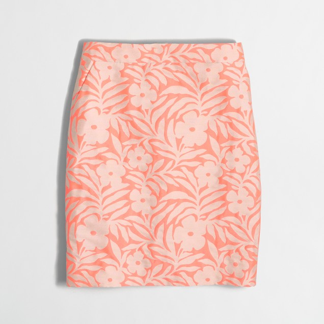 Neon floral jacquard mini skirt