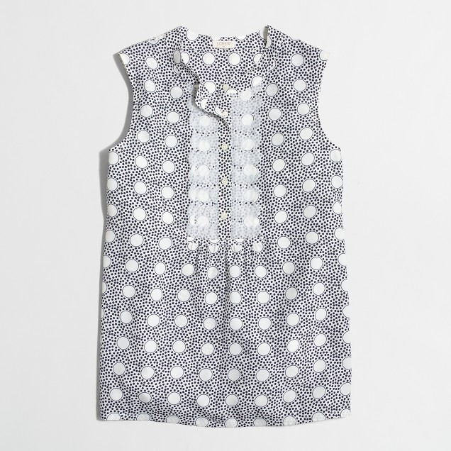 Printed tank with embellished placket
