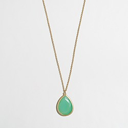 Factory teardrop pendant necklace