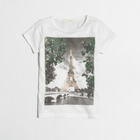 Girls' sequin Eiffel Tower keepsake T-shirt
