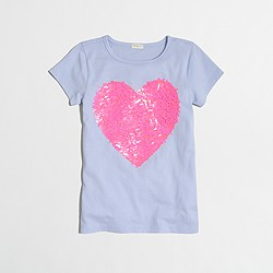 Factory girls' embellished heart keepsake T-shirt