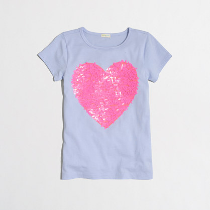 Girls' embellished heart keepsake T-shirt