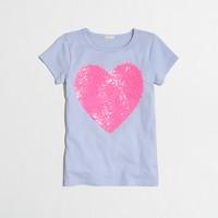 Girls' embellished heart keepsake T-shirt