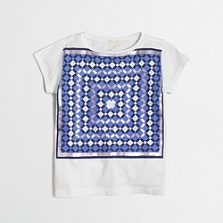 Factory girls' foil kaleidoscope keepsake T-shirt