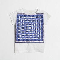Girls' foil kaleidoscope keepsake T-shirt