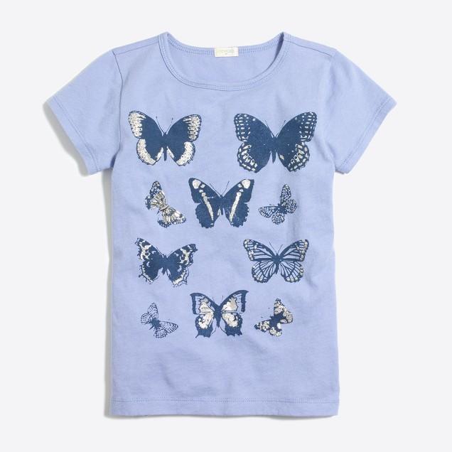Girls' butterflies keepsake T-shirt