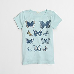 Factory girls' butterflies keepsake T-shirt