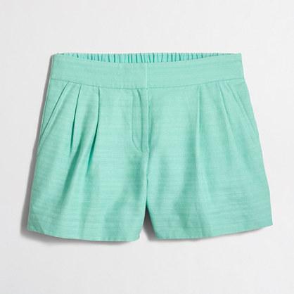 "4"" cotton-linen pull-on short"