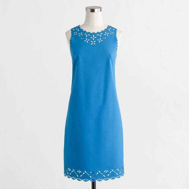 Laser-cut floral dress