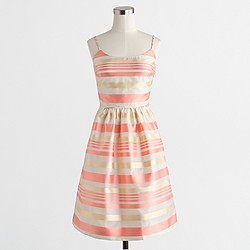 Factory striped organza dress