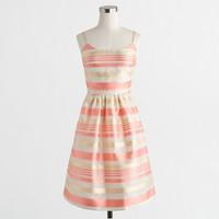 Striped organza dress