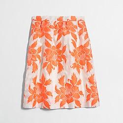 Factory neon floral flounce skirt