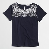 Embroidered-front T-shirt