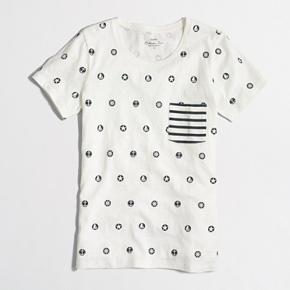 Nautical symbols collector T-shirt in airy cotton