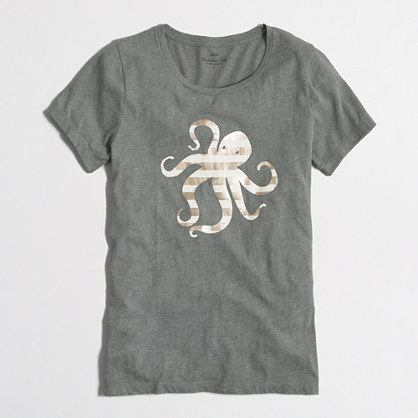 Octopus collector T-shirt in airy cotton