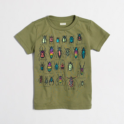 Boys' beetles storybook T-shirt