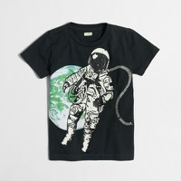 Boys' glow-in-the-dark astronomical storybook T-shirt