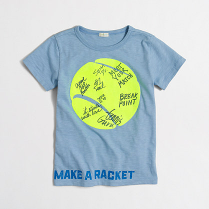 Boys' make a racket storybook T-shirt
