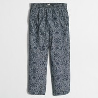 Printed chambray drawstring pant