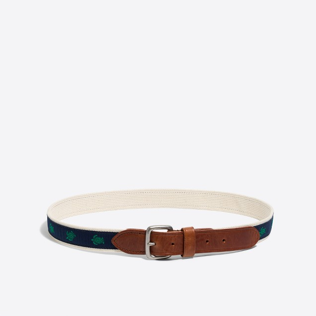 Embroidered turtle belt