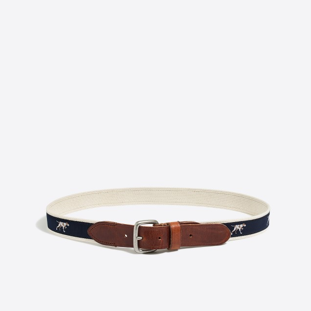 Embroidered patterned belt
