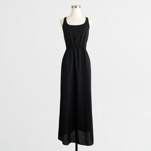 Cross-back cinched dress