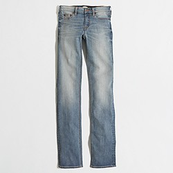 "Factory Davidson wash straight and narrow jean with 29"" inseam"
