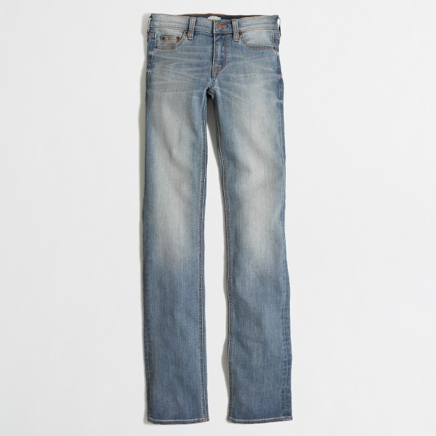 """Davidson wash straight and narrow jean with 31"""" inseam"""