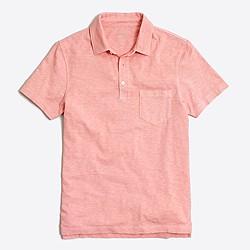 Sunwashed garment-dyed polo
