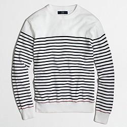 Factory sailor-striped cotton crewneck sweater