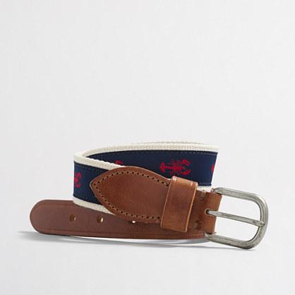 Boys' emroidered belt