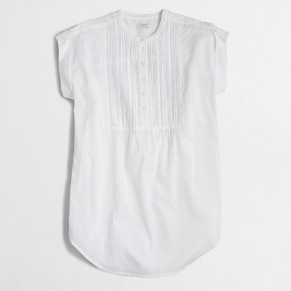 Short-sleeve gauze tunic
