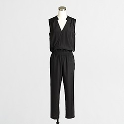 Factory wrap-front jumpsuit
