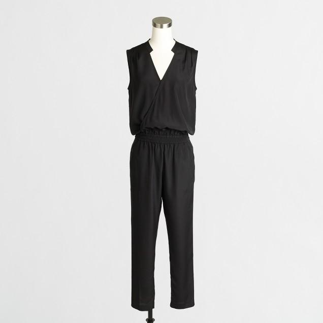 Wrap-front jumpsuit