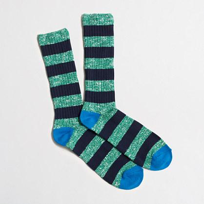 Striped marled socks