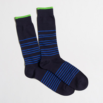 Placed-stripe socks