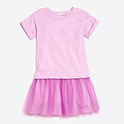 Girls' tulle T-shirt dress